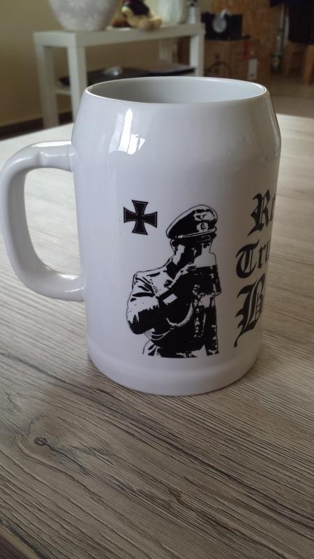 Wehrmacht Biertrinker - 3 Bierkrüge(Rundumdruck)