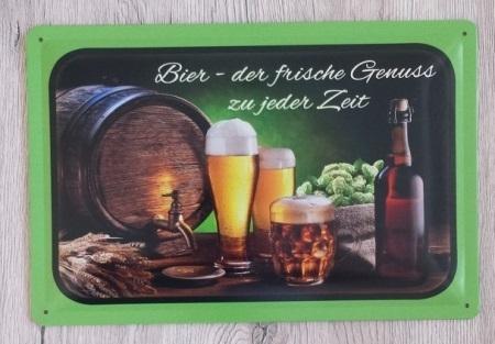 Bier - Blechschild