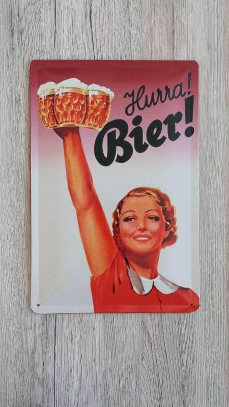 Hurra! Bier! - Blechschild
