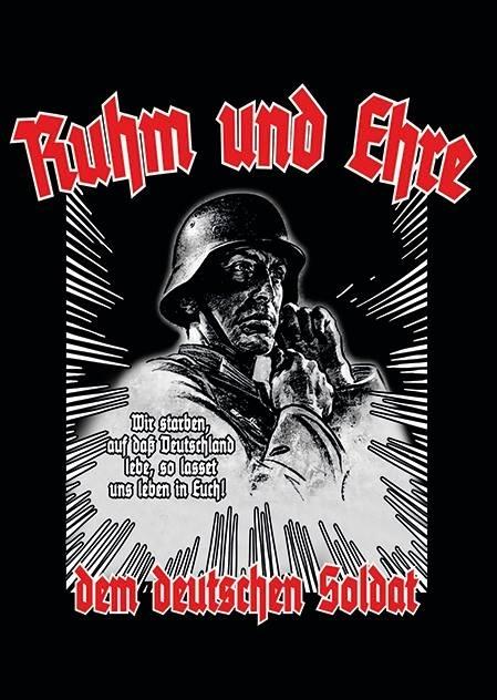 Ruhm und Ehre dem Deutschen Soldat - Aufkleber