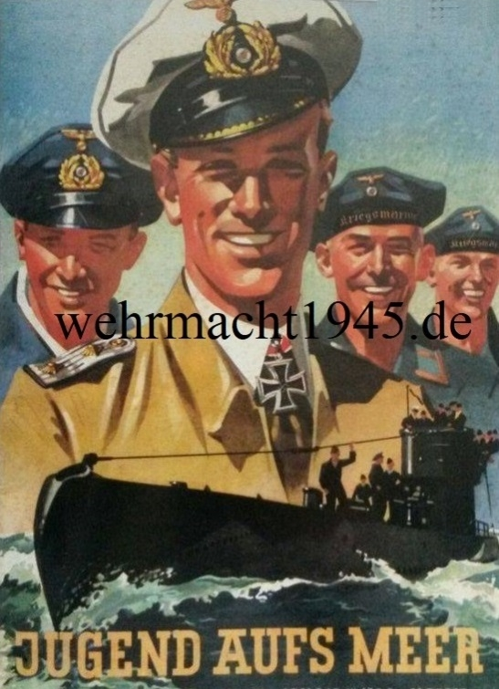 Jugend aufs Meer - Deutsche U-Bootwaffe - Poster 80x60 cm
