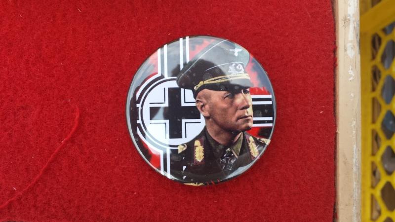 Erwin Rommel - 56mm Anstecker schwarz