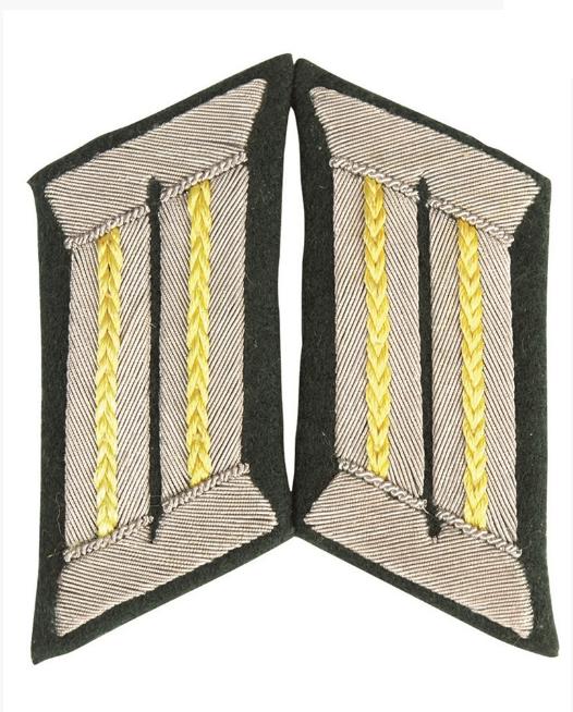 WH KRAGENSPIEGEL Offizier der Nachrichtentruppe GELB