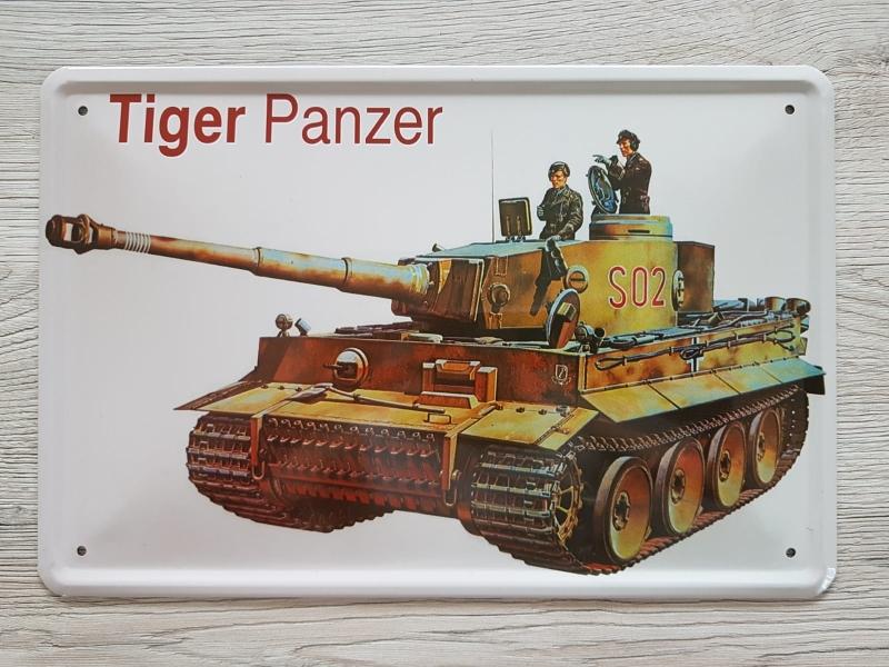 Tiger Panzer - Blechschild II