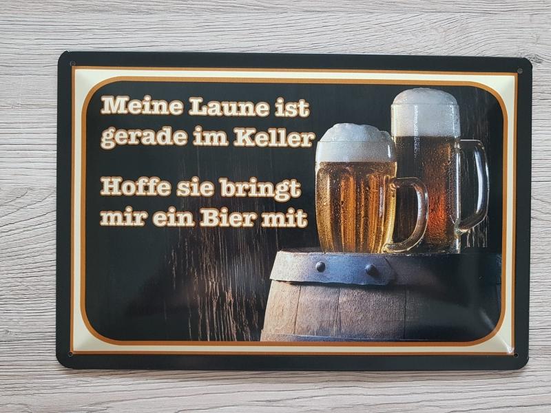 Bier III - Blechschild