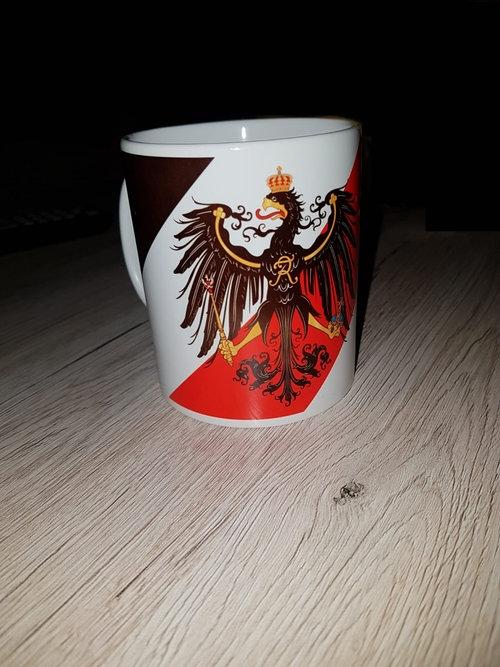 Preußen Adler Schwarz, Weiss, Rot - Preußens Gloria! Tasse