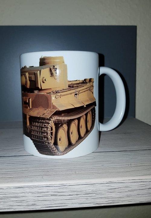 Rommels Tiger Panzer des Afrika Korps - 4 Tassen