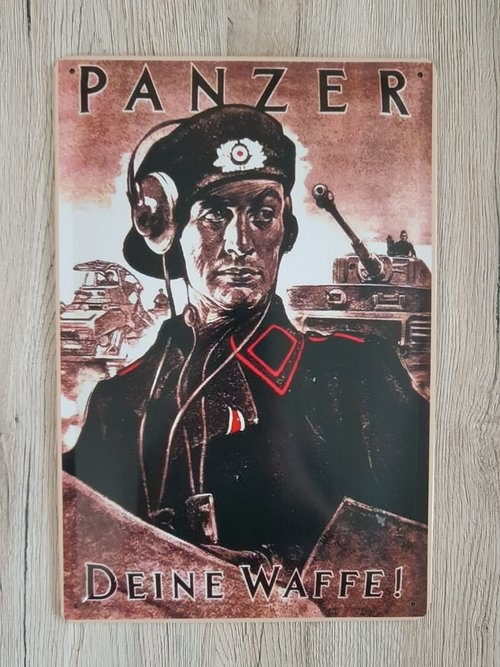 Panzer - Deine Waffe - Blechschild