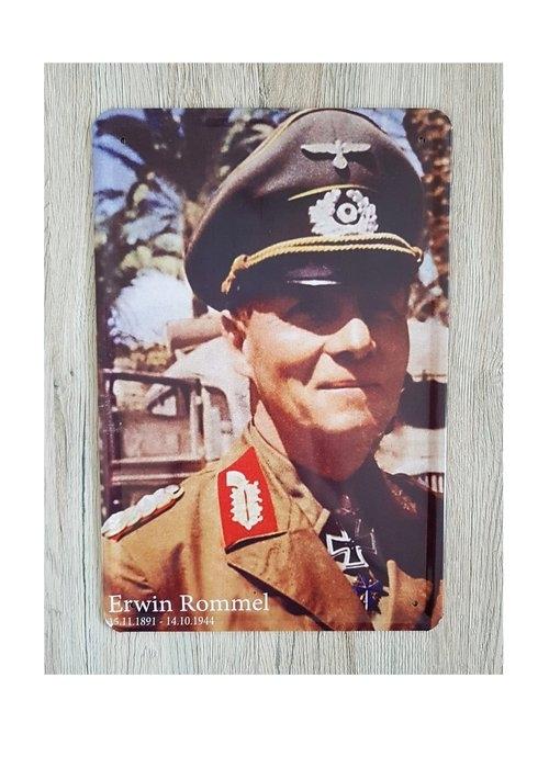 Erwin Rommel - Blechschild