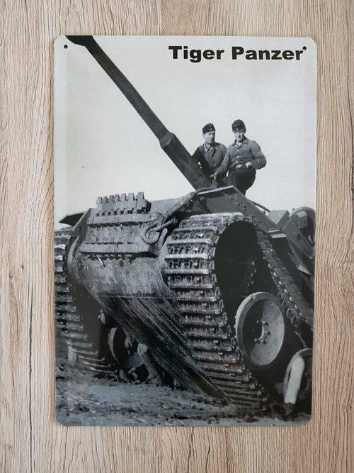 Tiger Panzer IV - Blechschild