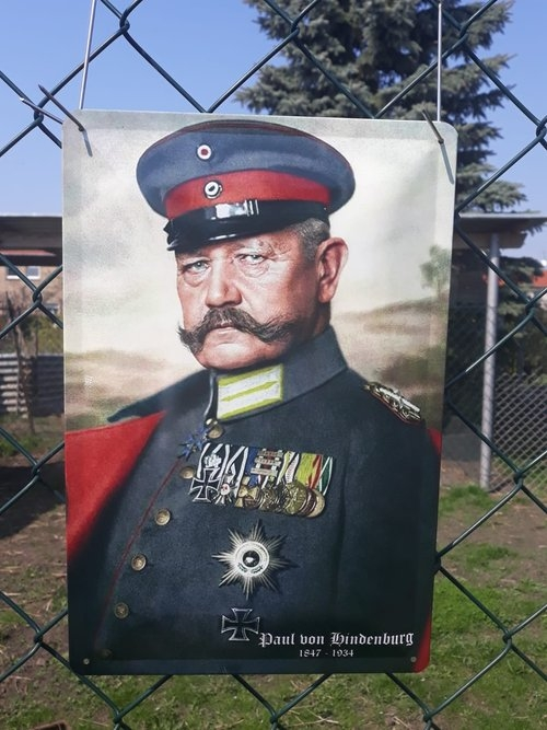 Paul von Hindenburg - Blechschild