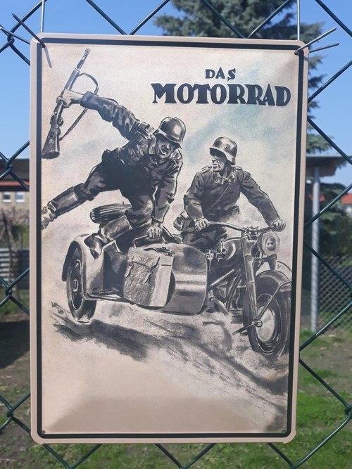 Das Wehrmacht Motorrad - Blechschild