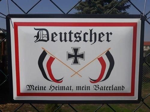 Deutscher, meine Heimat, mein Vaterland - Blechschild