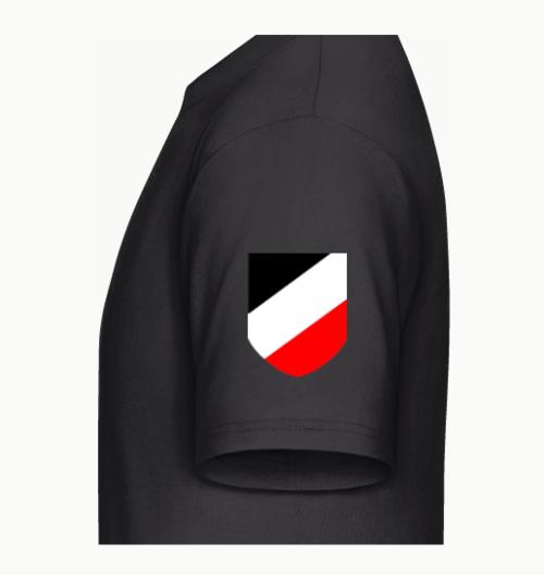 WH Emblem linker Ärmel T-Shirt