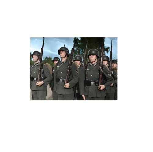 Wehrmacht Heer Soldaten mit Karabiner 98k - Kunstdruck - Poster - 80,0 x 60,0 cm