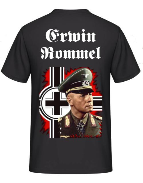 Erwin Rommel Balkenkreuz Rücken T-Shirt