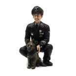 1/16 Figur Oberst Otto Paetsch mit Hund