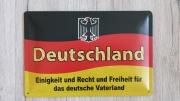 Deutschland - Einigkeit und Recht und Freiheit für das deutsche Vaterland - Blechschild