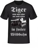 Tiger sieht man leider nur noch selten in freier Wildbahn T-Shirt