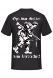 Opa war Soldat, kein Verbrecher! T-Shirt Rückenmotiv