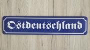 Ostdeutschland - Blechschild