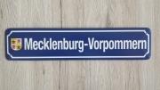 Mecklenburg - Vorpommern - Blechschild
