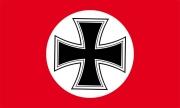 Eisernem Kreuz im Kreis Rote Fahne/Flagge - 150x90 cm
