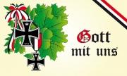 Gott mit uns - Eichenlaub Flagge - 90x150 cm