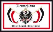 Deutschland Meine Heimat, Meine Liebe Flagge/Fahne 90x150 cm