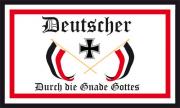 Deutscher durch die Gnade Gottes Flagge 90x150 cm