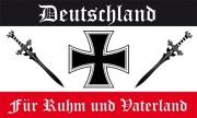 Deutschland - Für Ruhm und Vaterland - Fahne/Flagge 150x90 cm