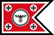 Schwalbenschwanz mit Reichsadler und Eisernen Kreuz Rot - Fahne/Flagge 150x90 cm