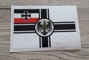 10 Aufkleber Reichskriegsflagge