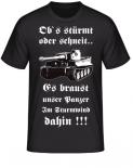 Tiger Panzer T-Shirt Panzerlied Ob`s stürmt oder schneit