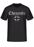Chemnitz (Wunschtext möglich) Balkenkreuz - T-Shirt