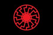 Schwarze Sonne - Fahne 90x150 cm