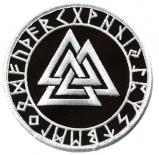 Valknut mit Runen - Aufnäher
