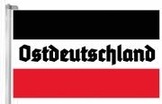 Ostdeutschland - Schwarz/Weiss/Rot - Fahne 150x90 cm