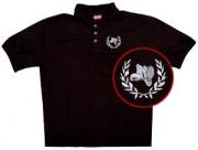 Springerstiefel im Kranz - Poloshirt schwarz
