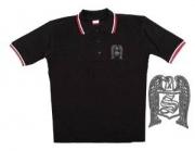 Skrewdriver Adler - Poloshirt schwarz/weiss/rot