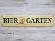 Biergarten - Blechschild