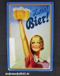 Hurra BIER II - Blechschild
