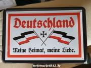 Deutschland - Meine Heimat, meine Liebe - Blechschild
