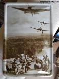 Wehrmacht - Stukas und Kradfahrer - Blechschild