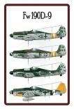 FW 190 D-9 - Blechschild