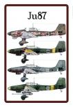 Stuka Ju 87 - Blechschild