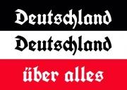 Deutschland, Deutschland über alles! - Aufkleber