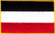 Deutsches Reich schwarz/weiss/rot - Aufnäher