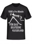MG 42 1500 x pro Minute Einigkeit Recht Freiheit - T-Shirt