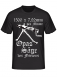 MG 42 1500 x 7,92mm pro Minute Opas Säge des Friedens - T-Shirt